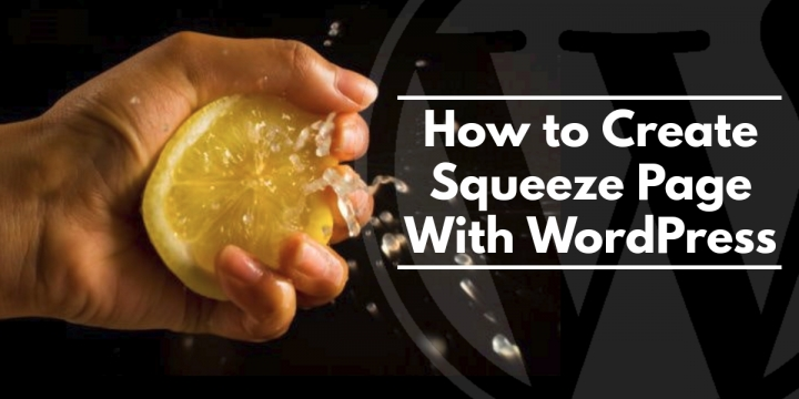 How to Create Squeeze Page With WordPress